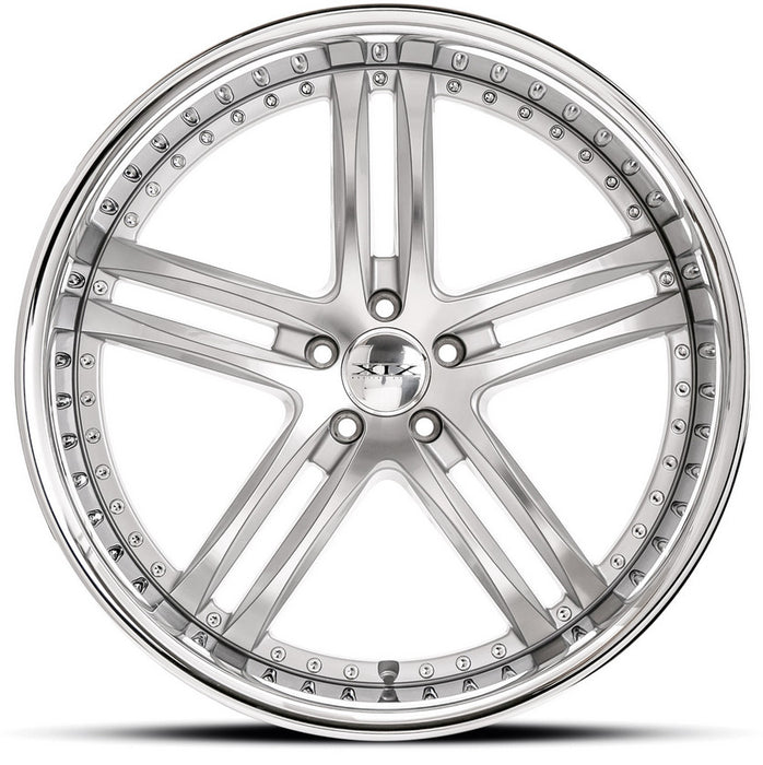 "22"" XIX x15 Wheels Silver Machined with Stainless Steel Lip"