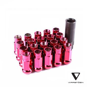 varrstoen lug nut chrome red
