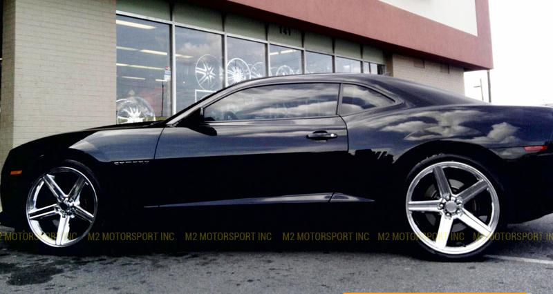 "22"" Iroc Rims Black Machine"