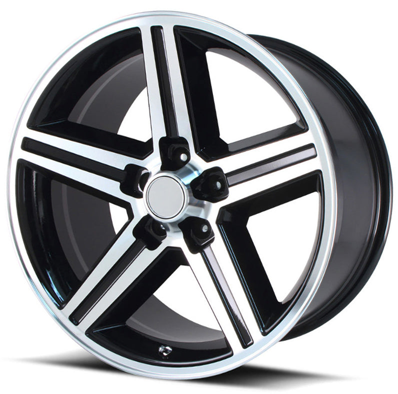 "20"" iroc rims wheels black machine"