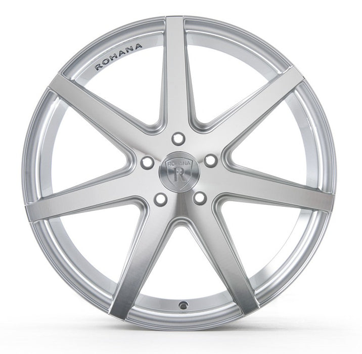 "19"" Rohana RC7 Wheels Machine Silver"