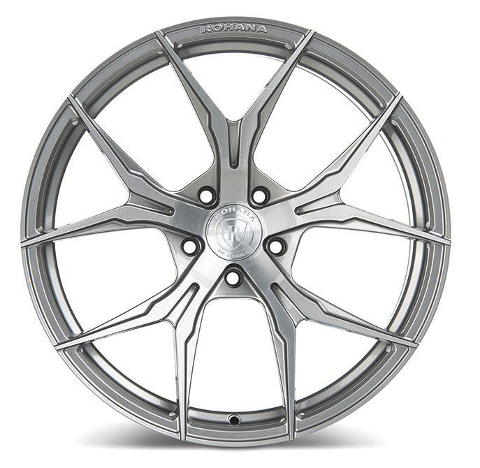 "22"" Rohana RFX5 Wheels Brushed Titanium"