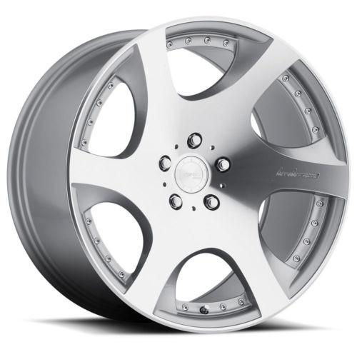 "20"" Staggered MRR VP3 Wheels Machined Silver w Rivets Rims 5x112 5x4.5 5x120"