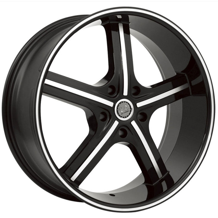 u2 55 wheels black machine 5 lug