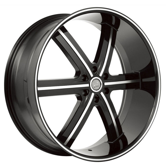 u2 55 wheels black machine 6 lug