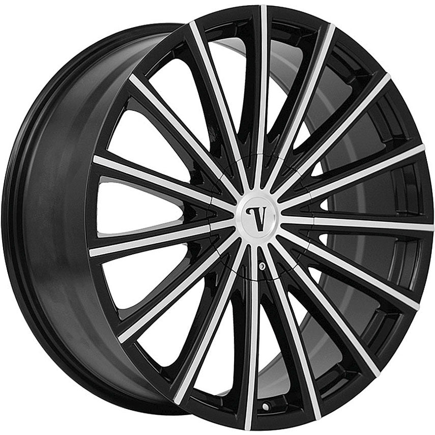 "22"" Velocity VW10 Wheels Black Machined"