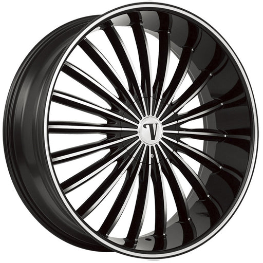 "22"" Velocity VW11 Wheels Black Machined"