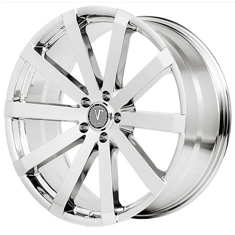 "26"" velocity vw12 chrome wheels"