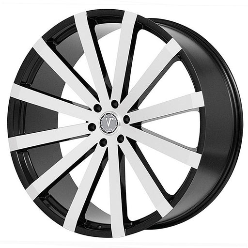 "26"" velocity vw12 wheels black machine"