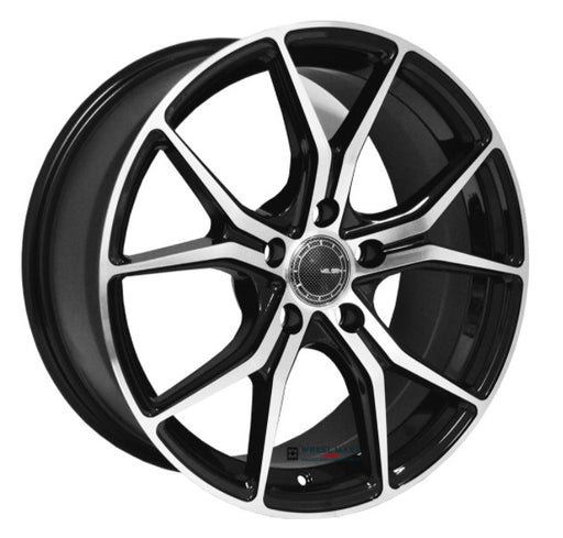 "18"" Velsen V531 Wheels Black Machined"