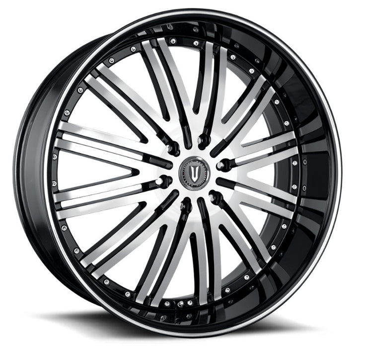 "24"" Versante ve212 Wheels Black & Machined Face"