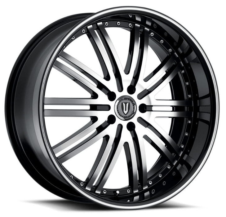 "20"" Versante ve212 Wheels Black & Machined Face"