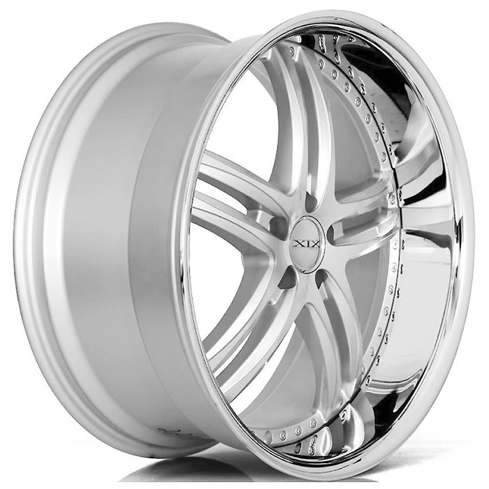 "22"" XIX x15 Wheels Silver Machined with SS Lip"