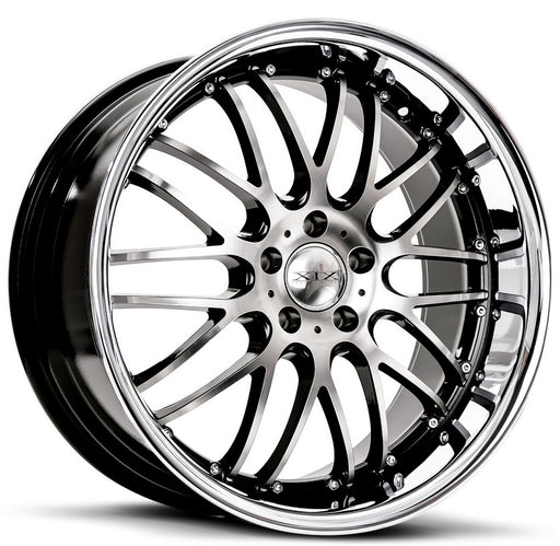 "20"" XIX X05 Wheels Gloss Black Machined / Stainless Steel Lip"