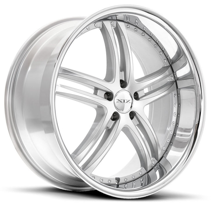 "20"" XIX x15 Wheels Silver Machined with Stainless Steel Lip"