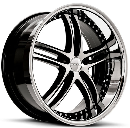 "20"" XIX x15 Wheels Gloss Black Machined with Stainless Steel Lip"