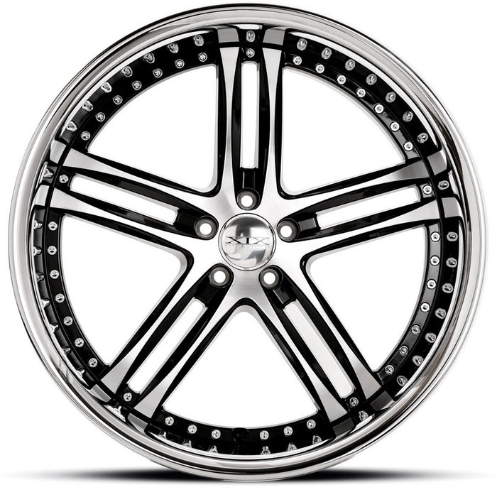 "24"" XIX x15 Wheels Gloss Black Machined with Stainless Steel Lip"