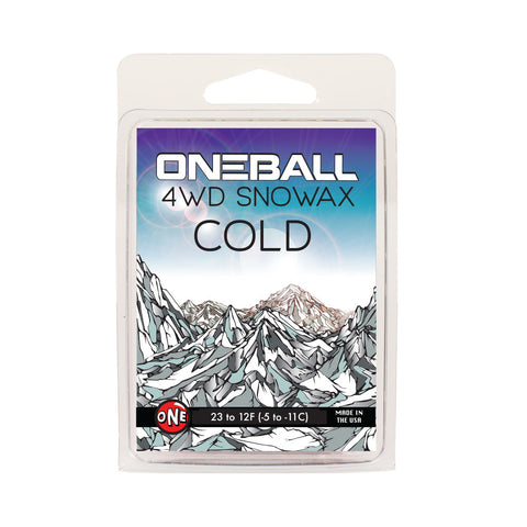 4WD cold temperature ski and snowboard wax - One Mfg - Oneball Snowboard Accessories