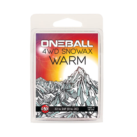 Oneball 4WD Warm Alpine Snowboard and Ski Wax