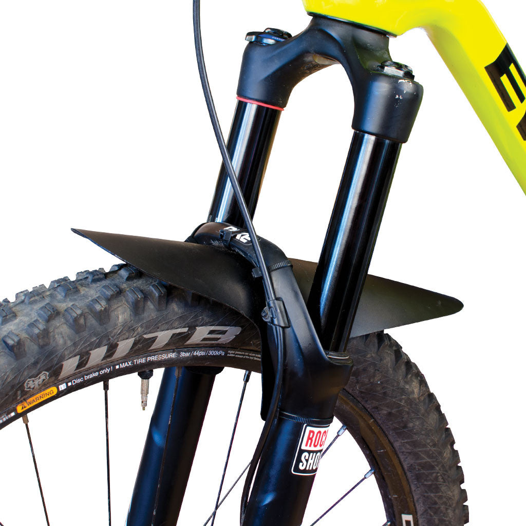 Large, Solid Color Mountain Bike Fork Fender
