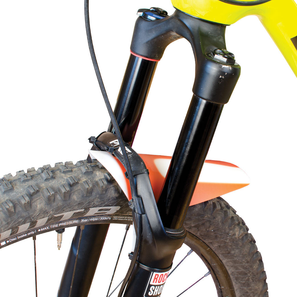 Small, Solid Color Mountain Bike Fork Fender