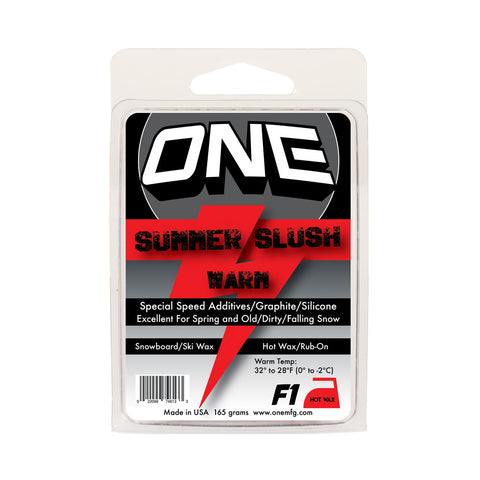 F1 Summer Slush Ski and Snowboard Wax - One Mfg - Oneball Snowboard Accessories