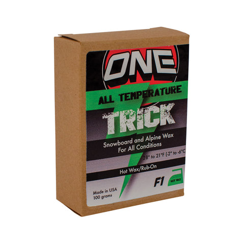 F1 Trick 130g Bar Ski and Snowboard Wax - One Mfg - Oneball Snowboard Accessories