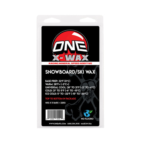 X-Wax 5 Pack Snowboard Wax / Ski Wax NEW Mineral Speed Additives