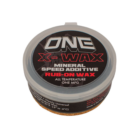X-Wax Rub-on All Temperature Ski and Snowboard Wax - One Mfg - Oneball Snowboard Accessories