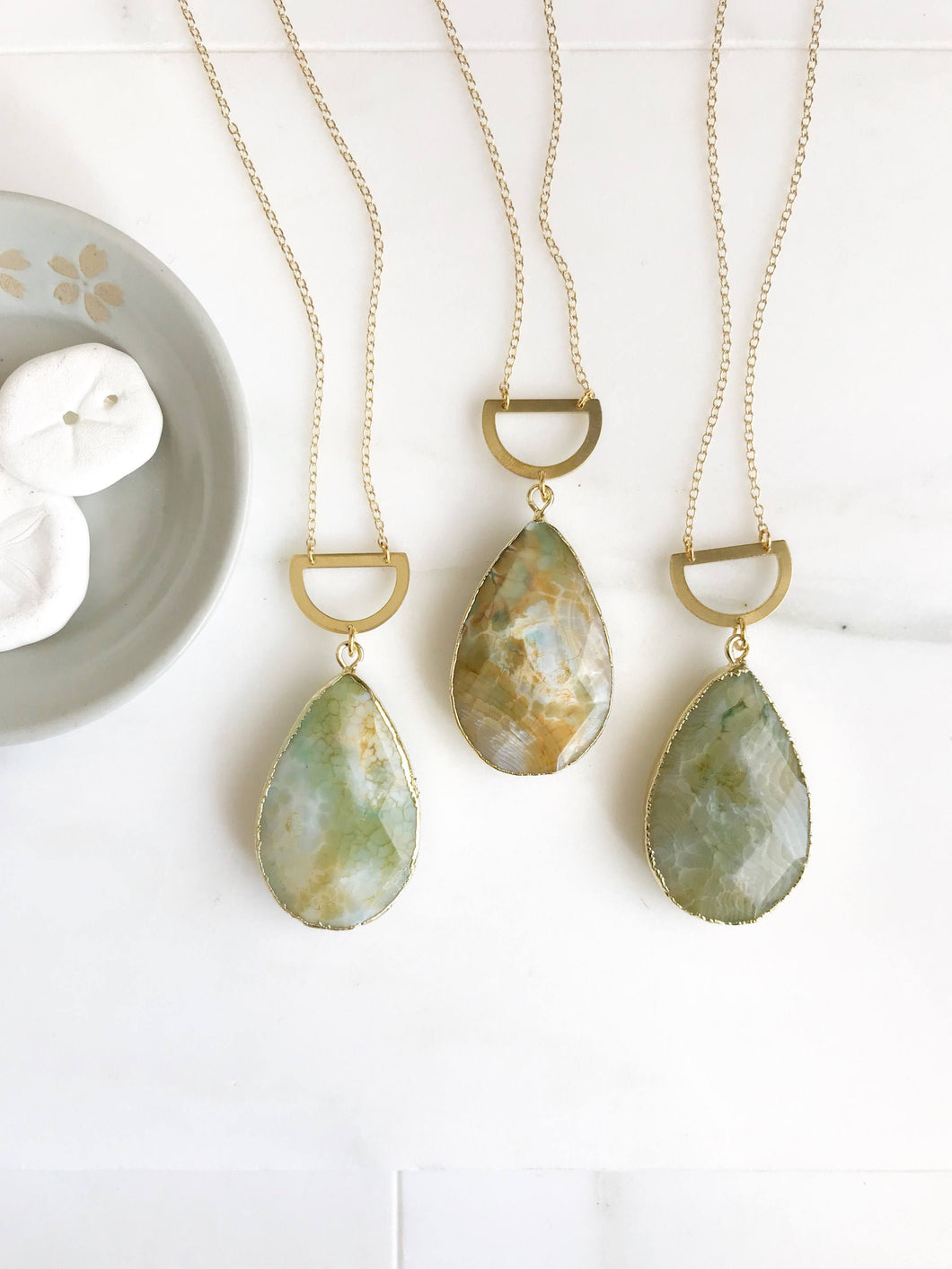 Long Stone Necklace. Long Boho Necklace. Long Gold Green Necklace. Ocean Jasper Stone Necklace. Unique Jewelry. Christmas Gift. Pendant.
