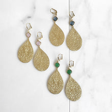 Load image into Gallery viewer, Gold Statement Chandelier Earrings. Dangle Earrings. Statement Earrings. Jewelry Gift. Modern Fashion Drop Earrings. Chandelier Earrings.