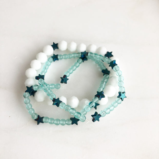 SALE - Childrens Stretch Bracelets - Cute Star Stretch Bracelets.