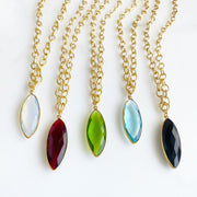 Chunky Gold Jewel Necklaces. Chunky Chain Stone Necklaces in Gold