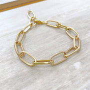 Chunky Gold Chain Bracelet with Oval Links. Bracelet Stacks. Bracelet Set. Chunky Bracelet