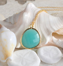 Load image into Gallery viewer, Long Turquoise Jewel Statement Necklace