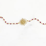 Sun Bracelets with Beading in Gold. Sun Charm Beaded Bracelet