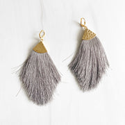 Marquise Tassel Earrings. Fringe Earrings. Big Statement Earrings. Large Tassel Earrings. Boho Jewelry