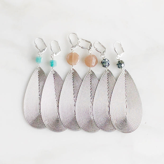 Big Silver Teardrop Earrings. Statement Earrings. Silver Statement Earrings