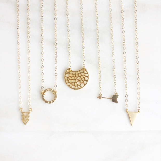 Gold Layering Necklace. Simple Charm Layering Necklace. Choose Your Charm