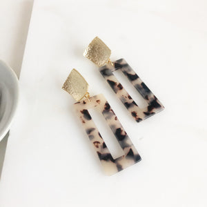 Statement Earrings. Acrylic Earrings. Acetate Earrings. Post Earrings. Rectangle Post Earrings.