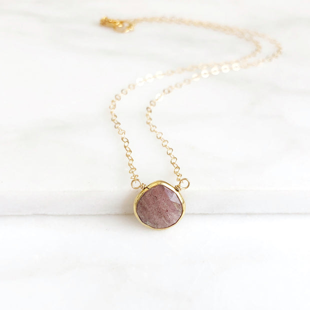 Small Jasper Heart Teardrop Layering Necklace. Gold Layering Jasper Necklace