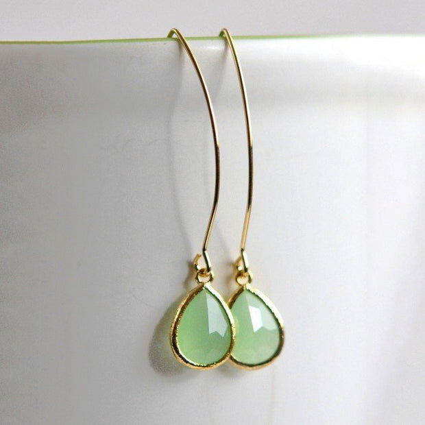 Bridesmaid Earrings. Bridal Dangle Drop Earrings. Wedding Gift
