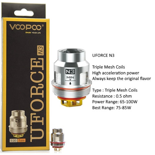 VooPoo - Uforce Coils (PACK of 5)