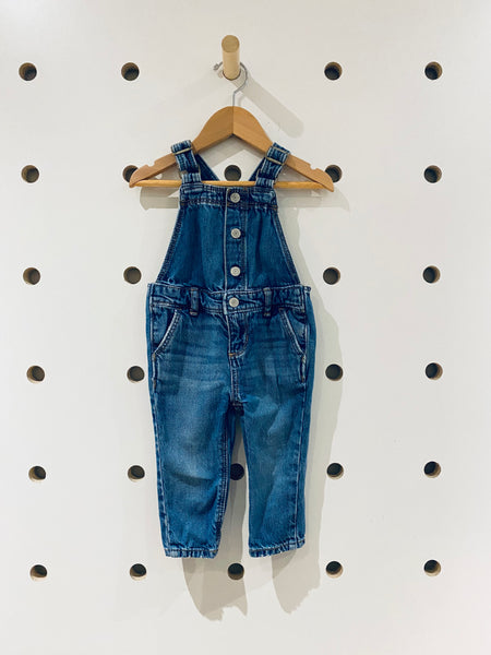 Snap Button Overalls // 12-18M