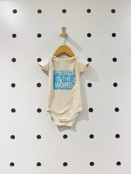Peace Is The Word Onesie // 6-12M