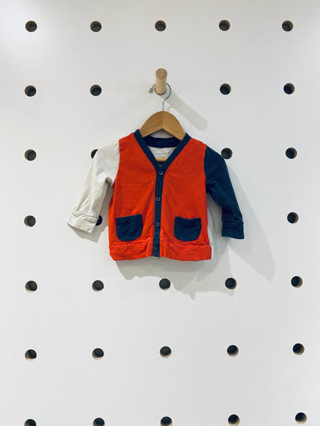 Colour Block Cardigan // 3-6M