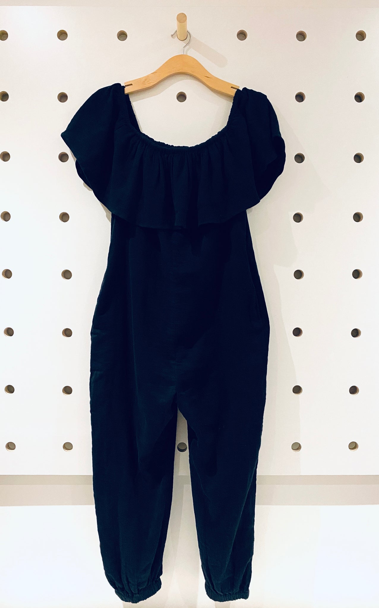 Mara Hoffman Black Jumpsuit Sz Medium