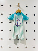 Striped Anchor Swimsuit UPF 50 // 6M