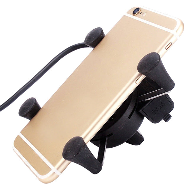Charging Motorcycle Phone Mount