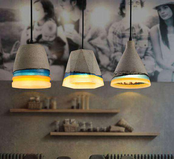 A series of pendant lamps Concrete Roof